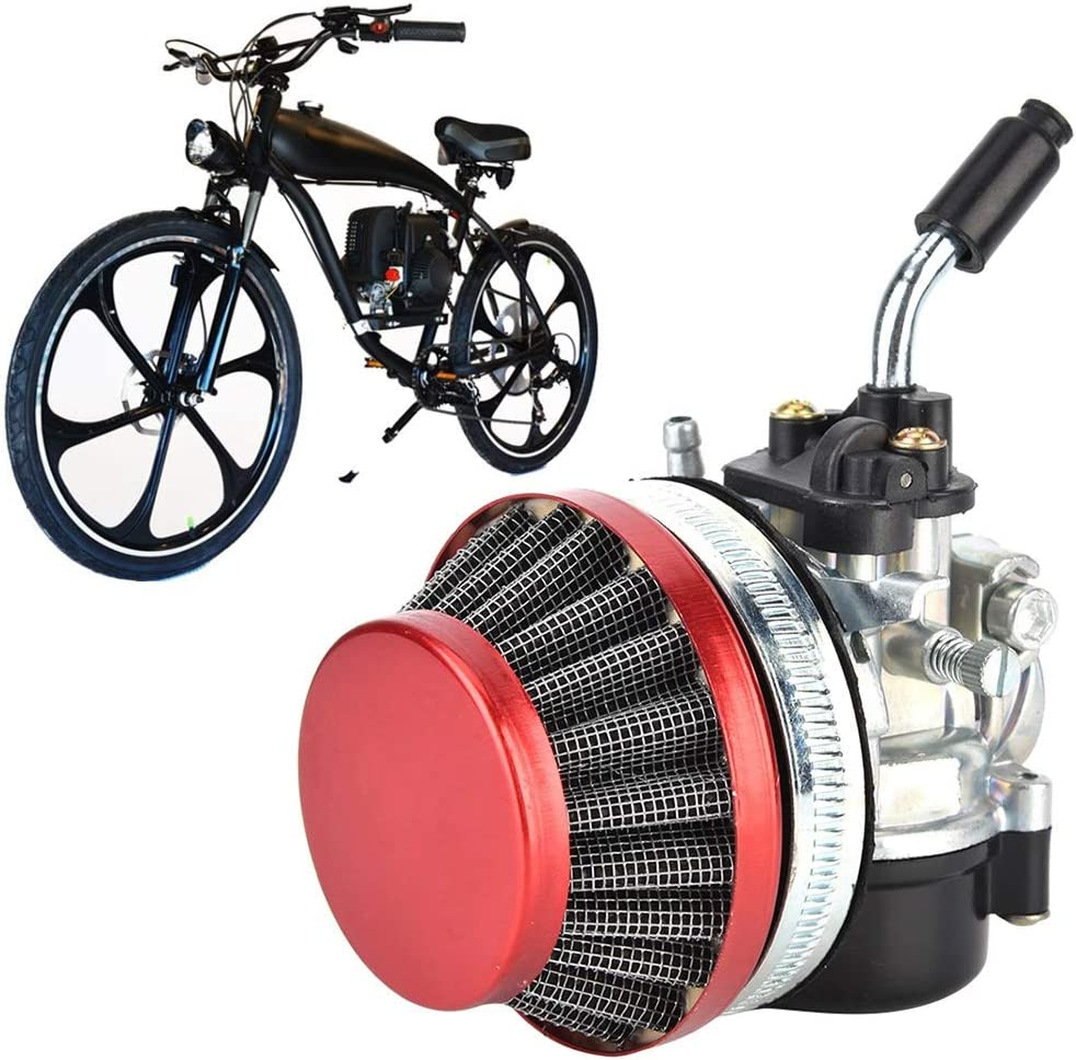 Qii lu Vergaser Aluminiumlegierung Vergaser /& Luftfilter Kit 49ccm 50ccm 80ccm Passend f/ür 37ccm 50ccm 80ccm 2-Takt Motorfahrrad