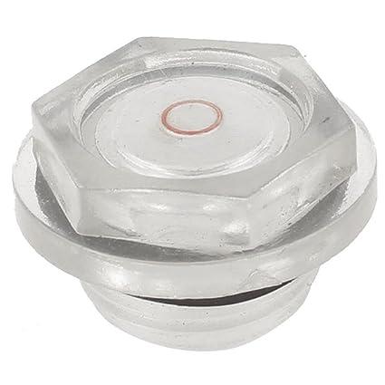 SODIAL(R) Vista de aceite de plastico de 1 pulgada Diametro de rosca Accesorios