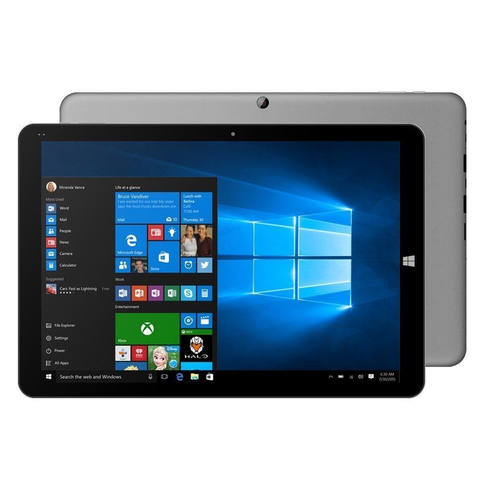 "12"" CHUWI Hi12 Gray Ultrabook Dual OS Windows 10 + Android 5.1 Tablet PC 4 GB RAM 64GB ROM Intel Cherry Trail Z8350 64bit Quad Core with Dual Cameras(2.0MP/5.0MP) WIFI Bluetooth OTG HDMI External 3G USB Dongle 11000mAh Battery Tablet"