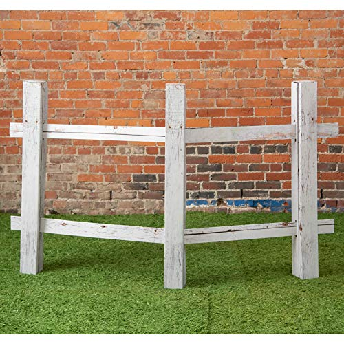 3 ft. 10 in. Western Cowboy White Split Rail Fence Standup Photo Booth Prop Background Backdrop Party Decoration Decor Scene Setter Cardboard Cutout ()