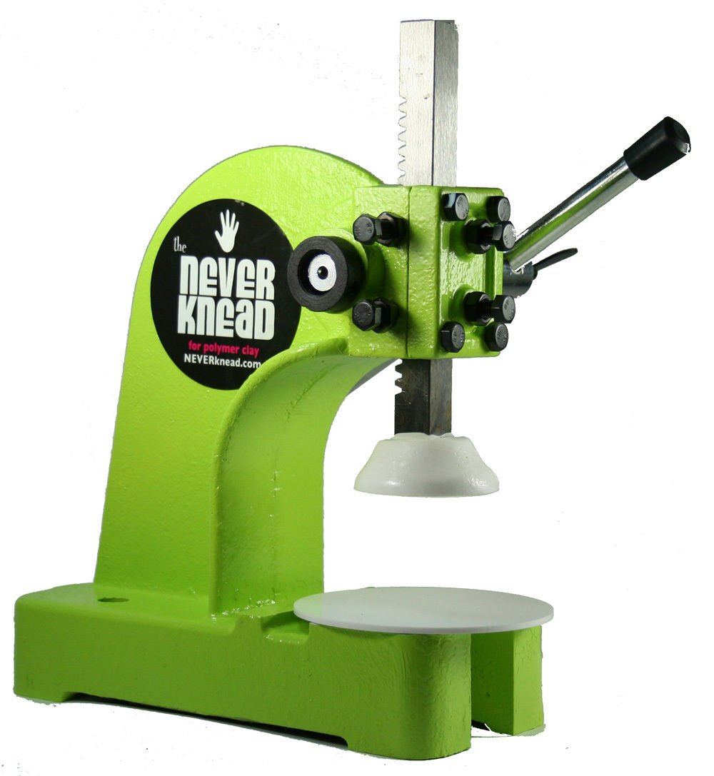 EASY Polymer Clay Kneading Tool Machine - The NEVERknead - NEW For Artists & Crafters - works with Sculpey Fimo Kato & More LIME GREEN by NEVERknead