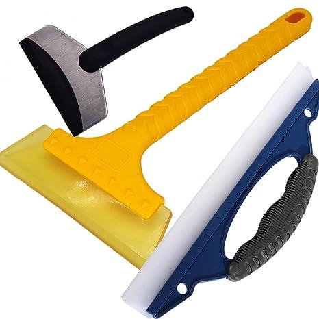 Lavar raspador de nieve cuchilla Set de 3 (tanto de suave y duro) emergencia de nieve quitar herramienta placa de hielo ...
