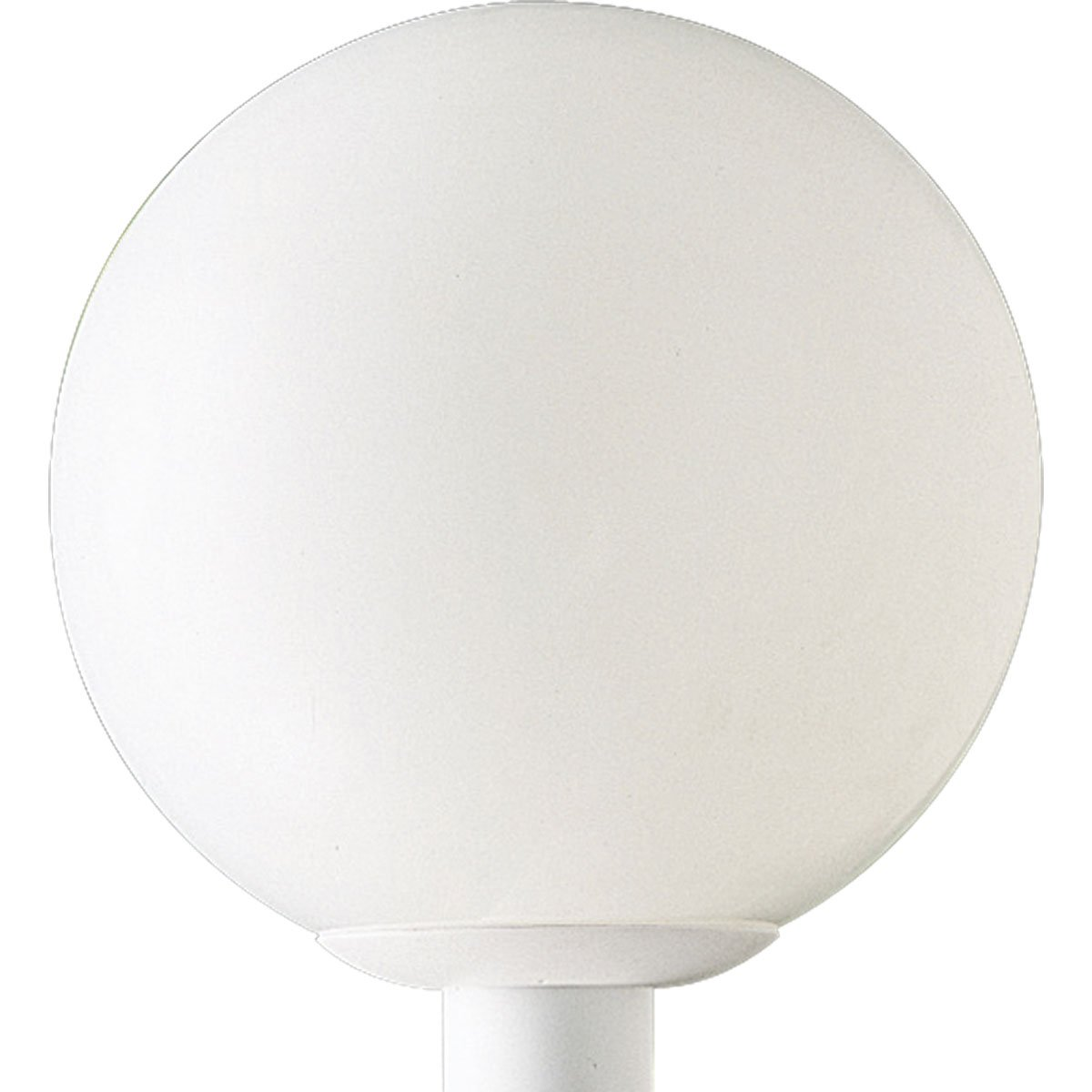 Progress Lighting P5426-60 Complete Post Lantern White Shatter-Resistant Acrylic Globe White Fitter, White by Progress Lighting