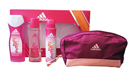 ADIDAS WOMAN FRUITY RHYTHM 75ML + DESODORANTE 150ML + GEL 250ML + NECESER