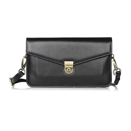 b8acb3a71e0f Universal Crossbody Cell Phone Bag, Dteck Premium Leather Crossbody Bag  Cell Phone Purse Wallet Women/Girl Shoulder Strap iPhone X / 8 Plus,  Samsung ...