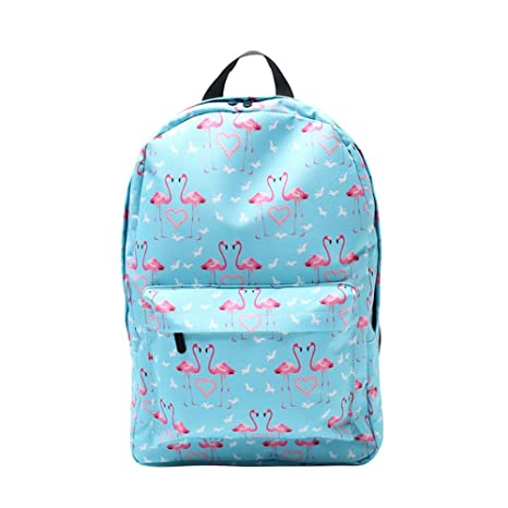 691ab34cbde3 Aolvo Waterproof Flamingo Printed School Backpack For Girls Trendy Pattern  College Student Travel Backpack
