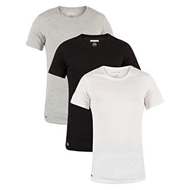 XL Lacoste Essentials 3 Pack V Neck /& Crewneck T Shirts Size Small