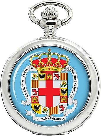 Almería City (España) Reloj Bolsillo Hunter Completo: Amazon.es: Relojes