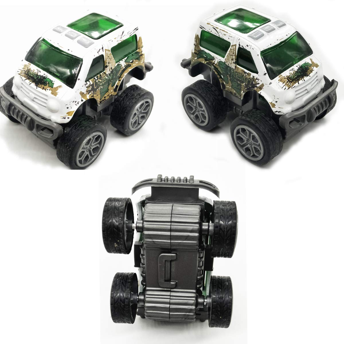 Off-Road Vehicle A Pull Back Cars for Toddlers 4 PCS Friction Powered Pull Back Vehicles Toys for 3-14 Year Old Boys Girls Kids