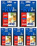 JVC 80MM Rewritable Mini DVD-RW for Camcorders - Package of 5 3/Packs
