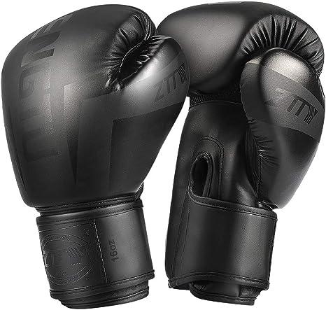 ZTTY Boxing Gloves Kickboxing Muay Thai Punching Bag MMA Pro Grade