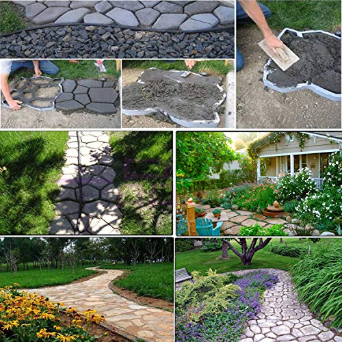 YAOBLUESEA Formulario Concreto Forma Pasarelas Encofrados Moldes Moldes Moldes plásticos para hormigón Pasarelas para jardín 42,5 x 42,5 x 4cm: Amazon.es: ...