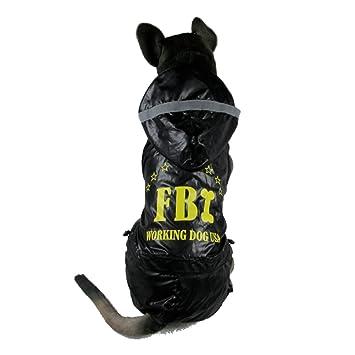 Amazon.com: Clover FBI impermeable Vinilo con capucha ...