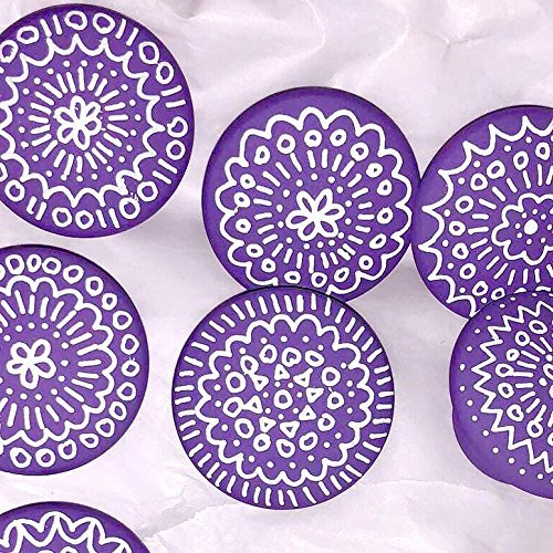 Set of 12- Hand-painted wooden knobs for cabinets, dresser, drawer pulls, shutters, boxes, boho mandala design, any color custom, bohemian/cottage/coastal/shabby chic (12 knobs) by Sweep of Sand