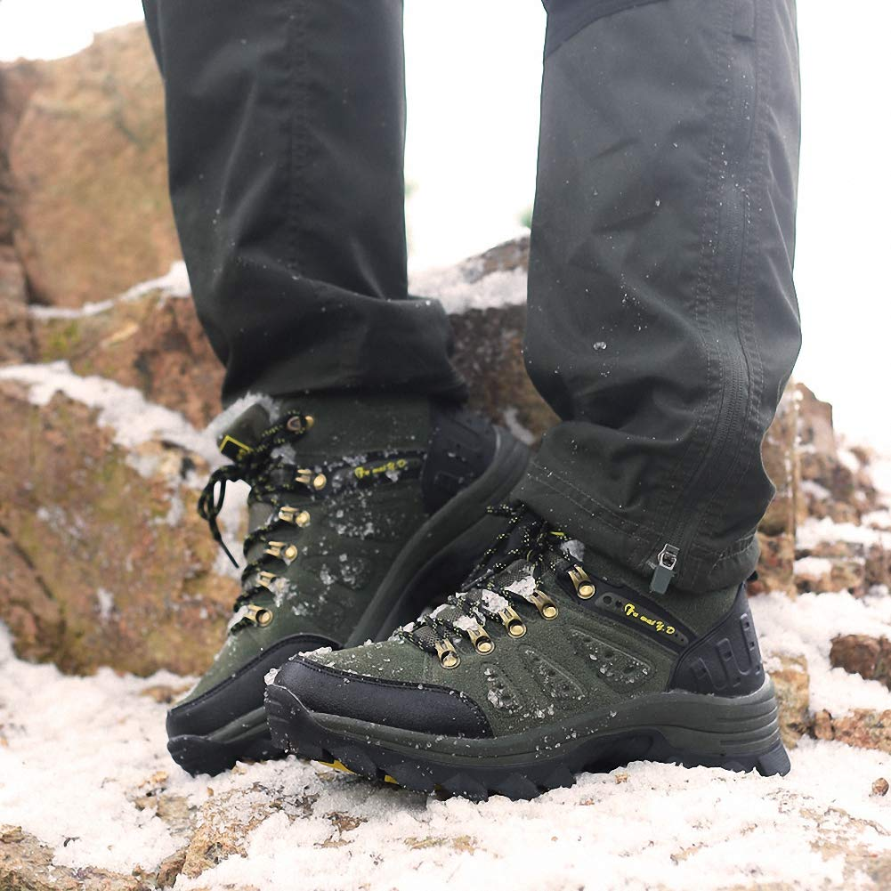 ZHENZHONG Mens Warm Trail Trekking Hiking Boots Walking Sports Boots Shoes