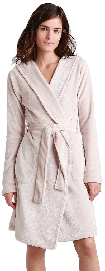 UGG Miranda Hooded Fleece Robe, L, Moonbeam
