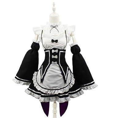 Happylifehere Women Anime Cosplay Costume Lolita Maid Dress with Headband Black with White (S)  sc 1 st  Amazon.com & Amazon.com: Happylifehere Women Anime Cosplay Costume Lolita Maid ...