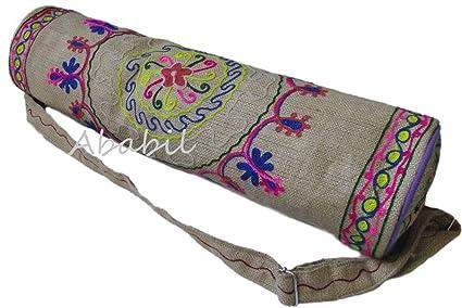Amazon.com : Ababilart Large Yoga Mat Bag India Yoga Mat Bag ...