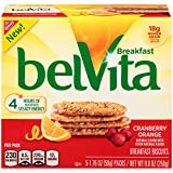 belVita Breakfast Biscuits, Cranberry Orange, 5 Count Box, 8.8 Ounce (Pack of 6)
