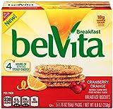belVita Cranberry Orange Breakfast Biscuits, 5 Count Box, 8.8 Ounce