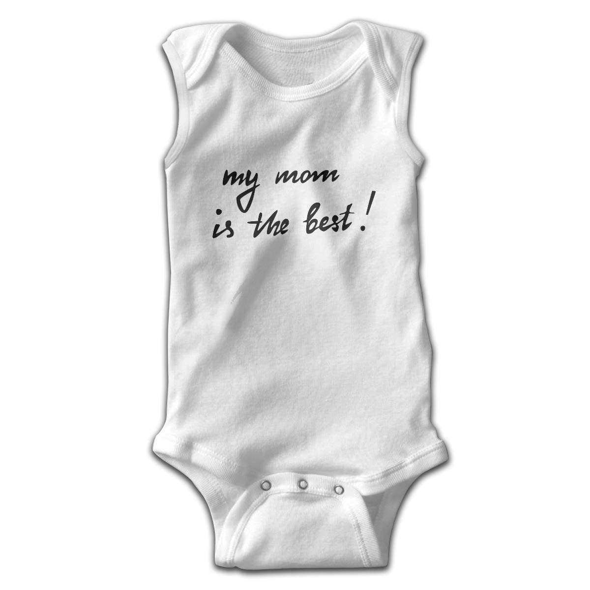 FAFU/&SKY My Mom is The Best Newborn Baby Clothes Bodysuit Sleeveless Summer for Baby