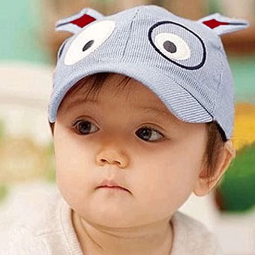 Amazon.com  Easykan Cute Dog Baseball Cap Toddler Sun Hat Brim Kid ... a0d70b04a0c