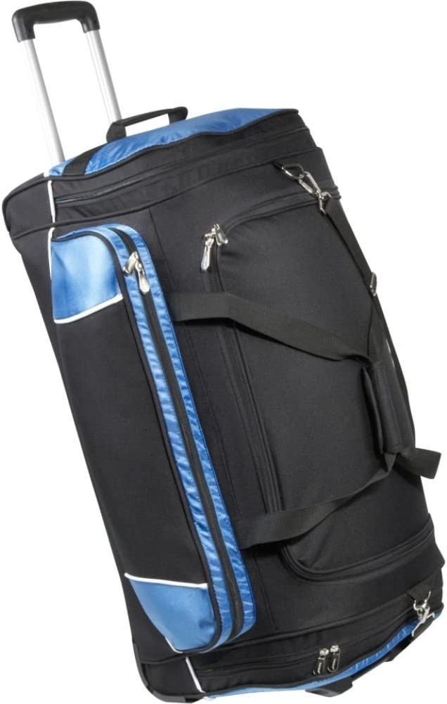 Bellino 30 Rolling Duffel, Black and Blue, One Size