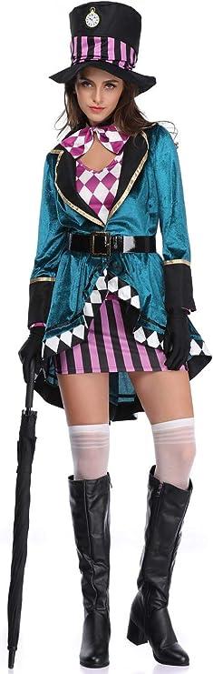 thematys Alicia en el País de Las Maravillas Damas de sombrerería - Conjunto de Disfraces Carnaval y Cosplay - 3 tamaños Diferentes (M): Amazon.es: Productos para mascotas