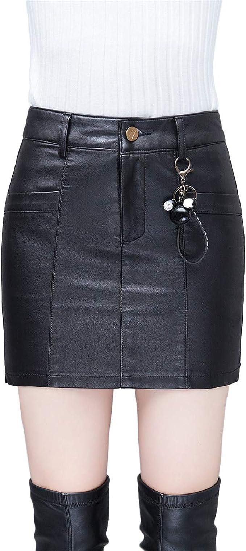 Xiuy Negro Cuero Falda Elegante Sexy Faldas Cortas Slim Elasticos ...