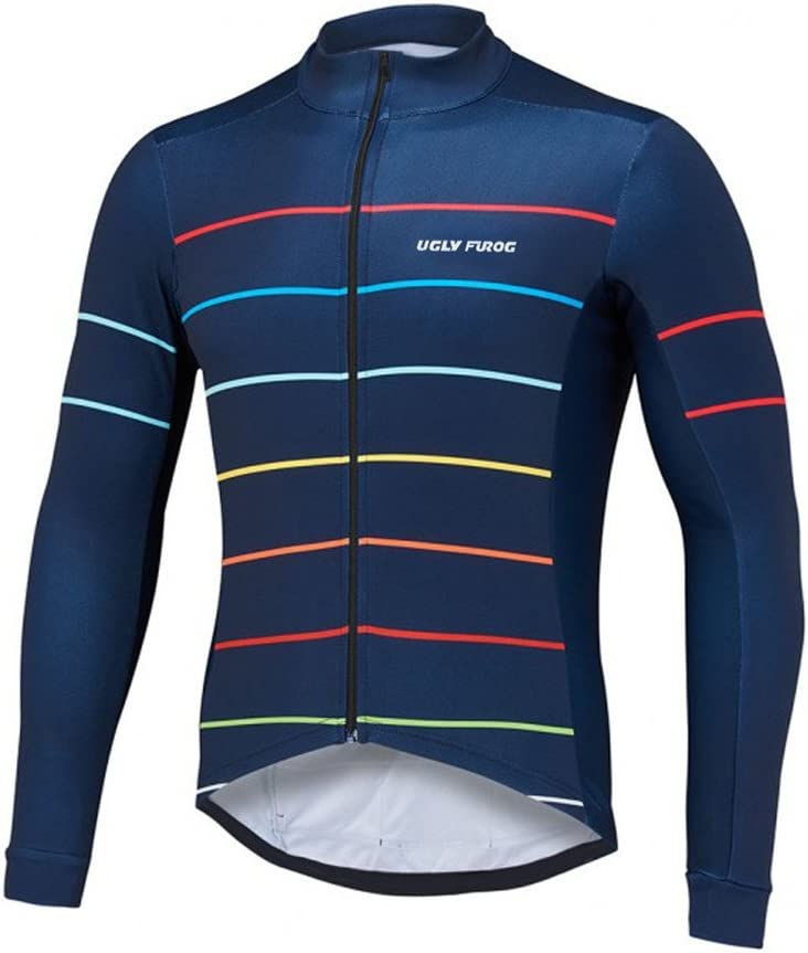 Uglyfrog 2018-2019 WLJ27 New Winter with Fleece Mens Breathable Warm Long Sleeve Cycling Jersey Bicycle Top//Bib Pants Set Triathon Clothing
