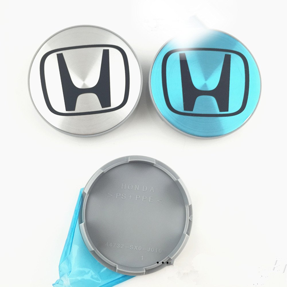 Automelody 4pcs 2 3//4 inchs A Set Of Wheel Center Caps Hubcap For Honda Accord Element Fit Pilot Ridgeline type2, silver