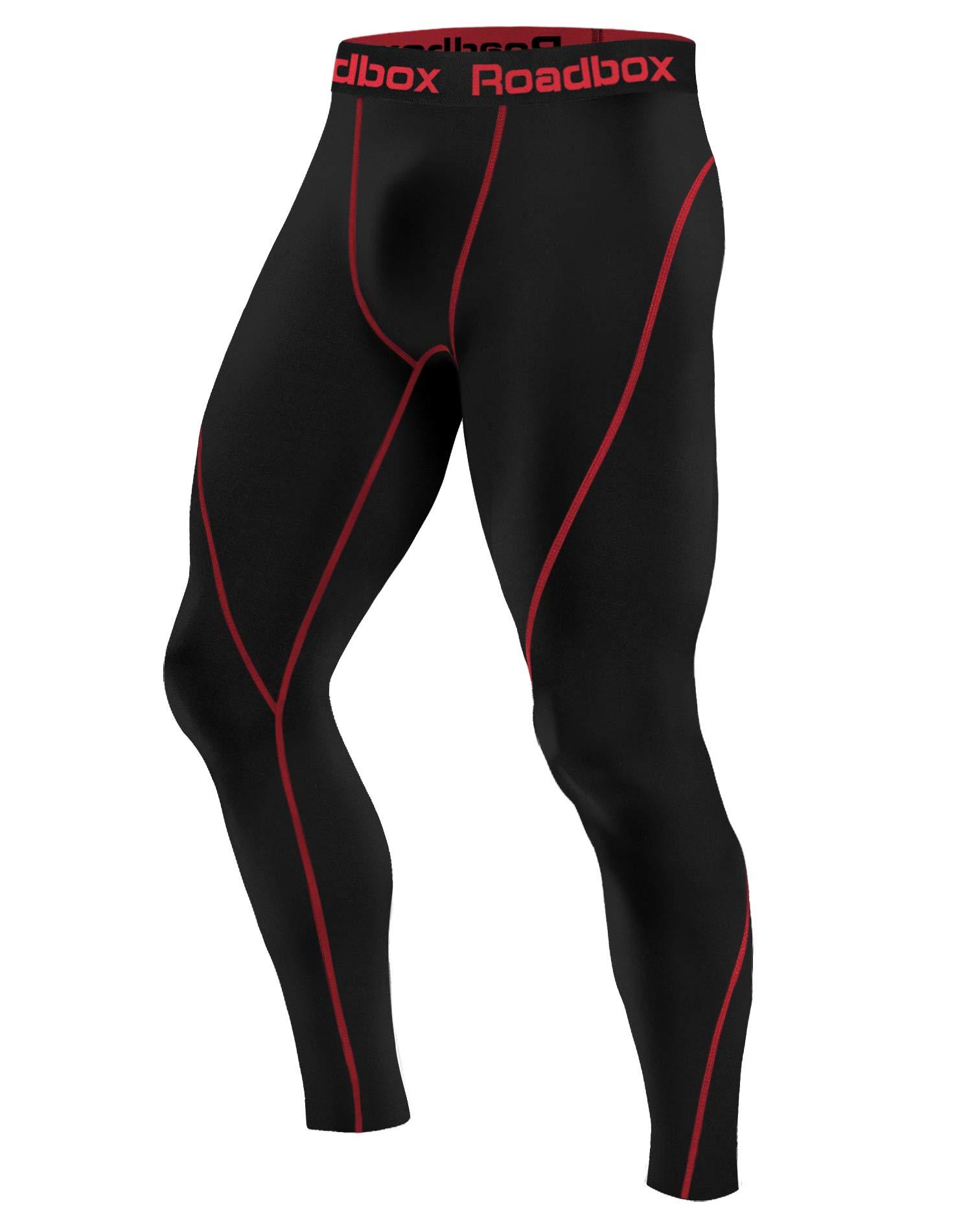 Roadbox Men's Compression Pants Base Layer Cool Dry