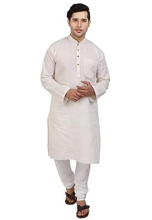 9b10bebee0 Kurta Pajama for Men Long Sleeve Kurta Pyjama Set Indian Party Wedding  Clothing at Amazon Men s Clothing store