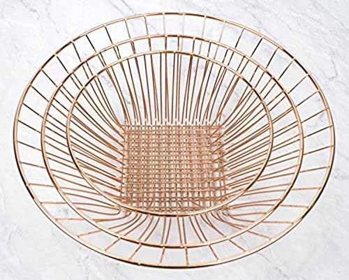 RSVP International 3-Tier Hanging Baskets Copper Wire