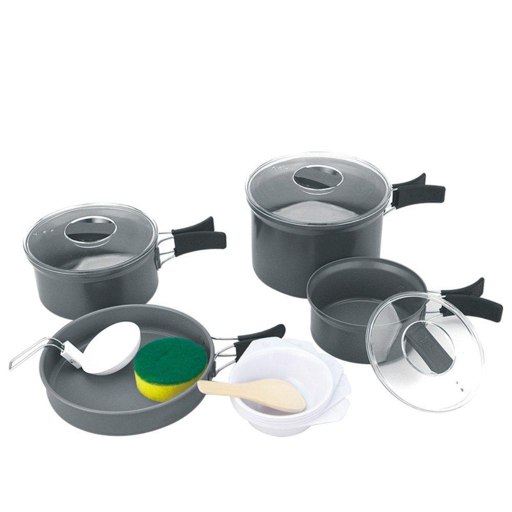 Outdoor Multifunctional Pot 4-5 Portable Camping Picnic Kitchenware Set