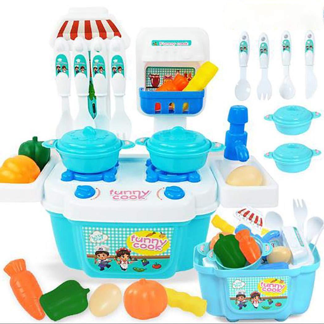 Set Kit de imitaci/ón para ni/ños y ni/ñas Juego de simulaci/ón de Cocina Juego de Juguetes educativos para ni/ños Juguetes del hogar Gfone 22Pcs