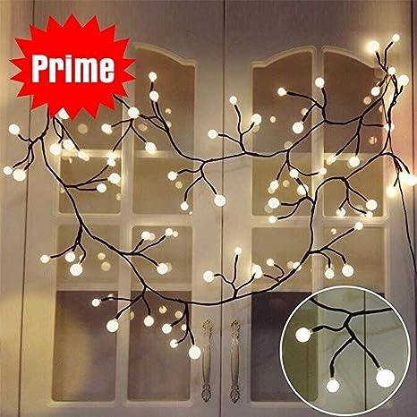 Globe Decorative String Lights, BaiYunPOY 8.3Ft 72 LED Hanging ...