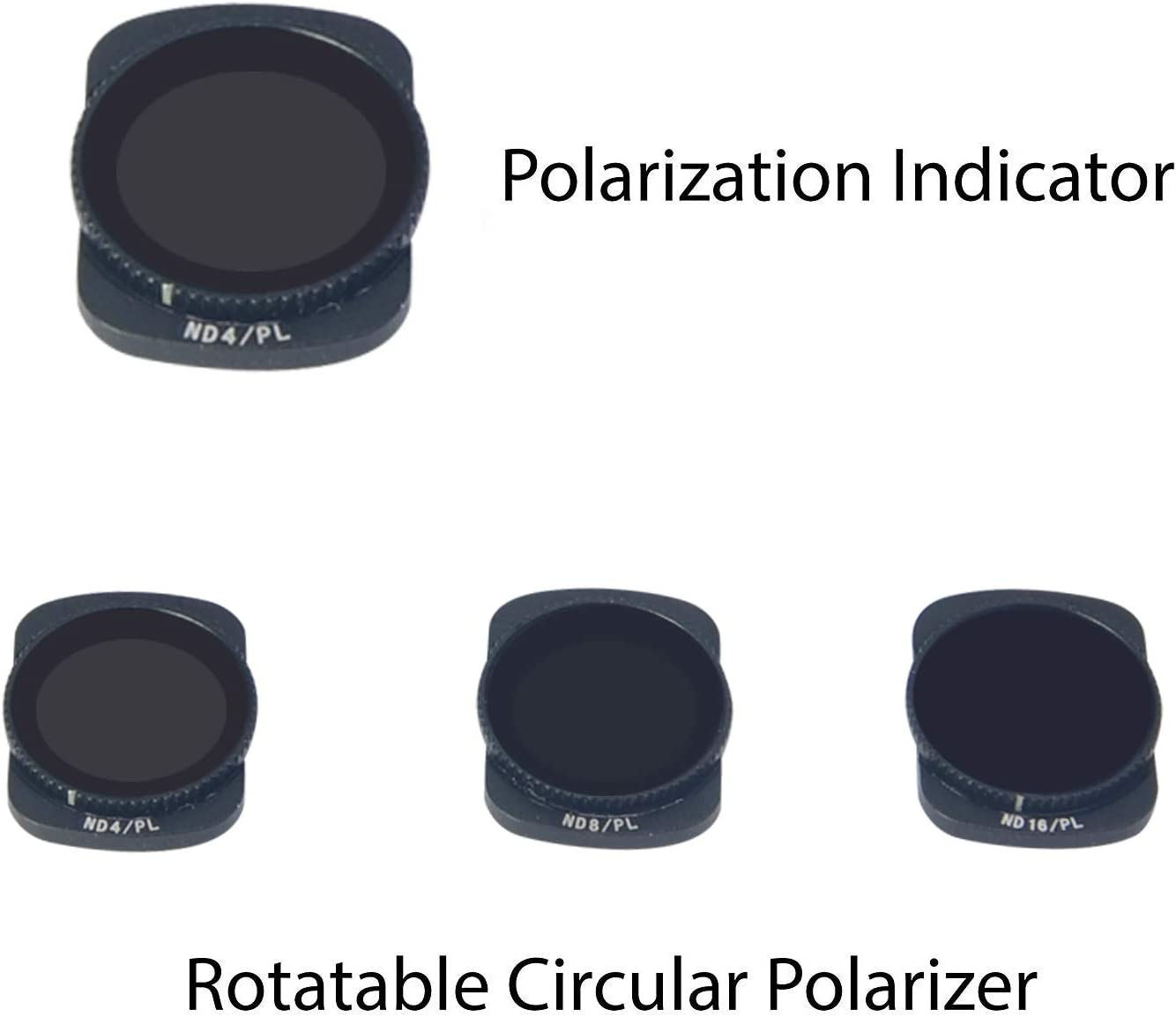 Mcoplus Camera Lens Filter-4 Pack-ND8//PL and ND64//PL Compatible with DJI Osmo Pocket ND16//PL ND32//PL