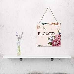 "VinMea Flower Letters, Home Door, Farmhouse Wall Door, Wall Art Gift, Wall Art, Home Wood Plaque, Wooden Sign 6"" X 6"""