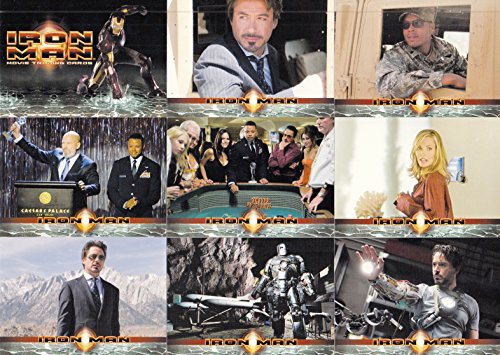 IRON MAN MOVIE 2008 RITTENHOUSE COMPLETE BASE CARD SET OF 70 MARVEL COMICS - Movie Trading Card Set