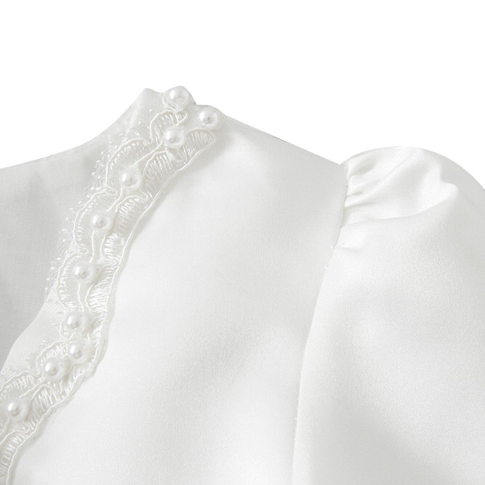 iEFiEL Kids Girls Beaded Bolero Wedding Flower Dress Jacket Shrug Short Cardigan