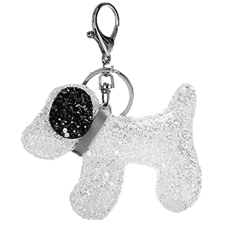 Youngate Wolf Bling Sequins Keychain Handbag Decor Keyring Keyfob (white)   Amazon.ca  Luggage   Bags 67877cccf