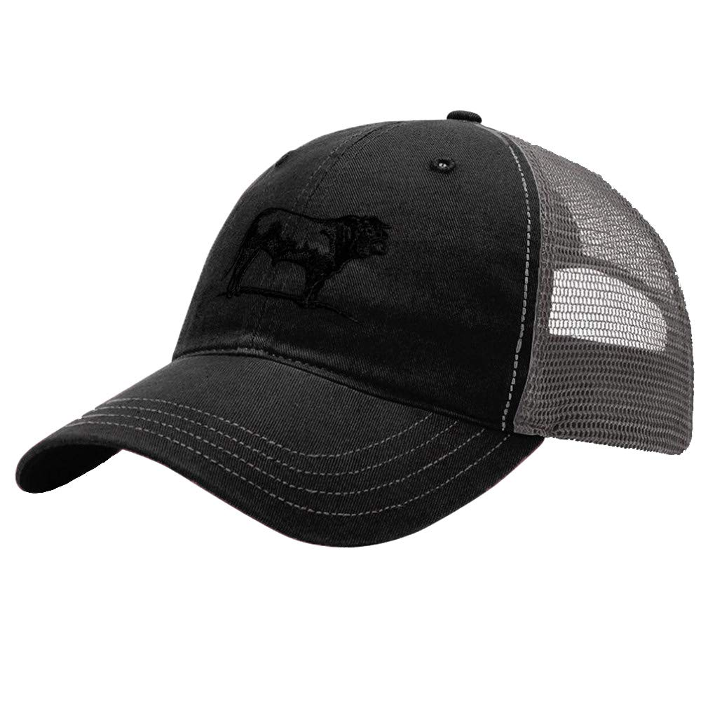 Custom Trucker Hat Richardson Bull A Embroidery Animal Name Cotton Soft Mesh Cap