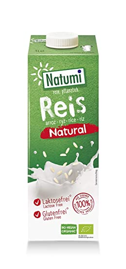 Natumi Bebida de Arroz, Natural - 12 Tetra Packs