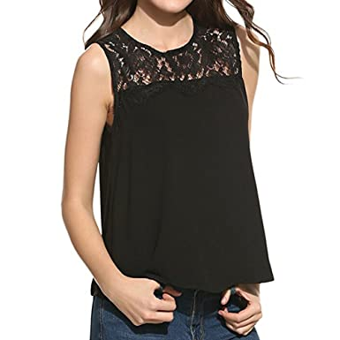 f1a9c01d0f2 Women Crop Tank Tops Ladies Plus Size Lace Floral Pacthwork Halter Strappy  Swing Sleeveless Camisole Vests