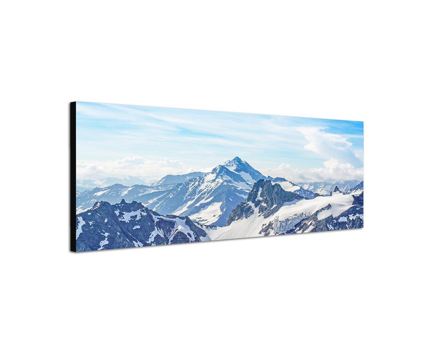 /120/x 40/cm Alpes Montagnes Sommet de Montagne neige Affiche Photos sur toile/