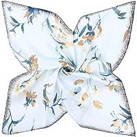 GERINLY Silk Feel Stewardess Scarf: Fall Floral Head Wrap Bandana for Women