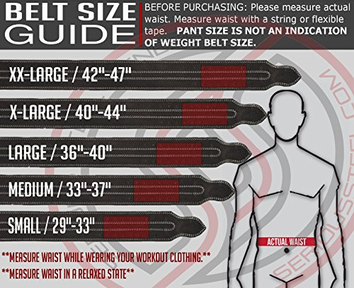 "Serious Steel Fitness Leather Weight Lifting Belt | Powerlifting, Weightlifting & Exercise Belt | 4"" Wide & 10mm Thick"