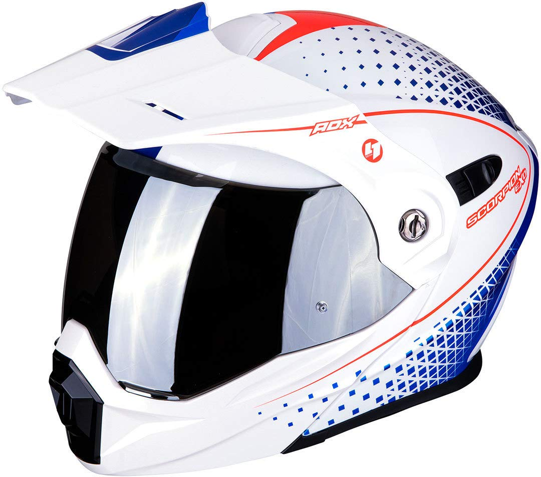 Scorpion 84-282-125-07 ADX-1 Horizon Pearl White-Red-Blue XXL