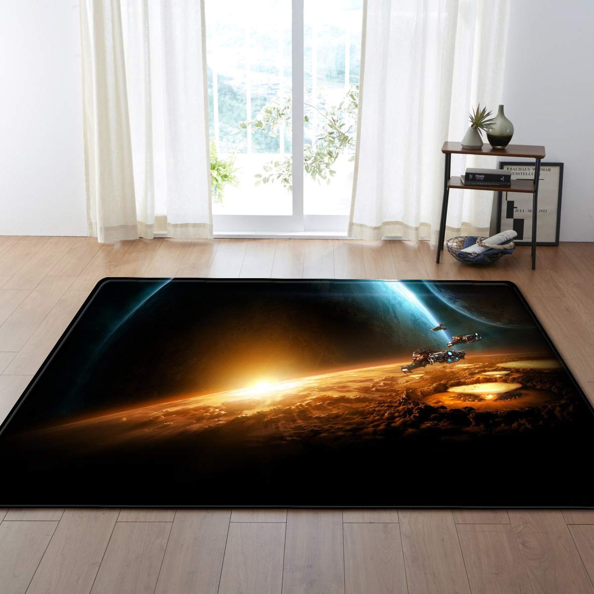 Jimin_Nordic 3D Printed Large Carpets Galaxy Space Cat Mat Soft Flannel Area Rugs Anti-slip Rug for Living Room Home Decor Parlor - (Color: 20; Size: 175x120cm) by Jimin